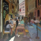Café in Rome old town - SOLD - Prints available