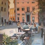 Café in the cunlight, Rome