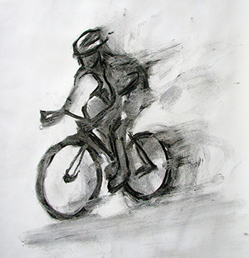 Cyclist sprinting for the finish - SOLD